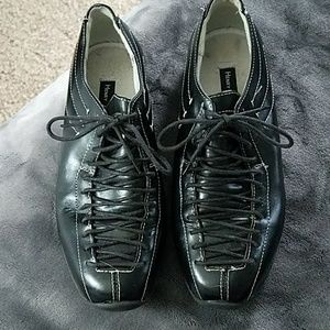 Henry Ferrera black lace up shoes